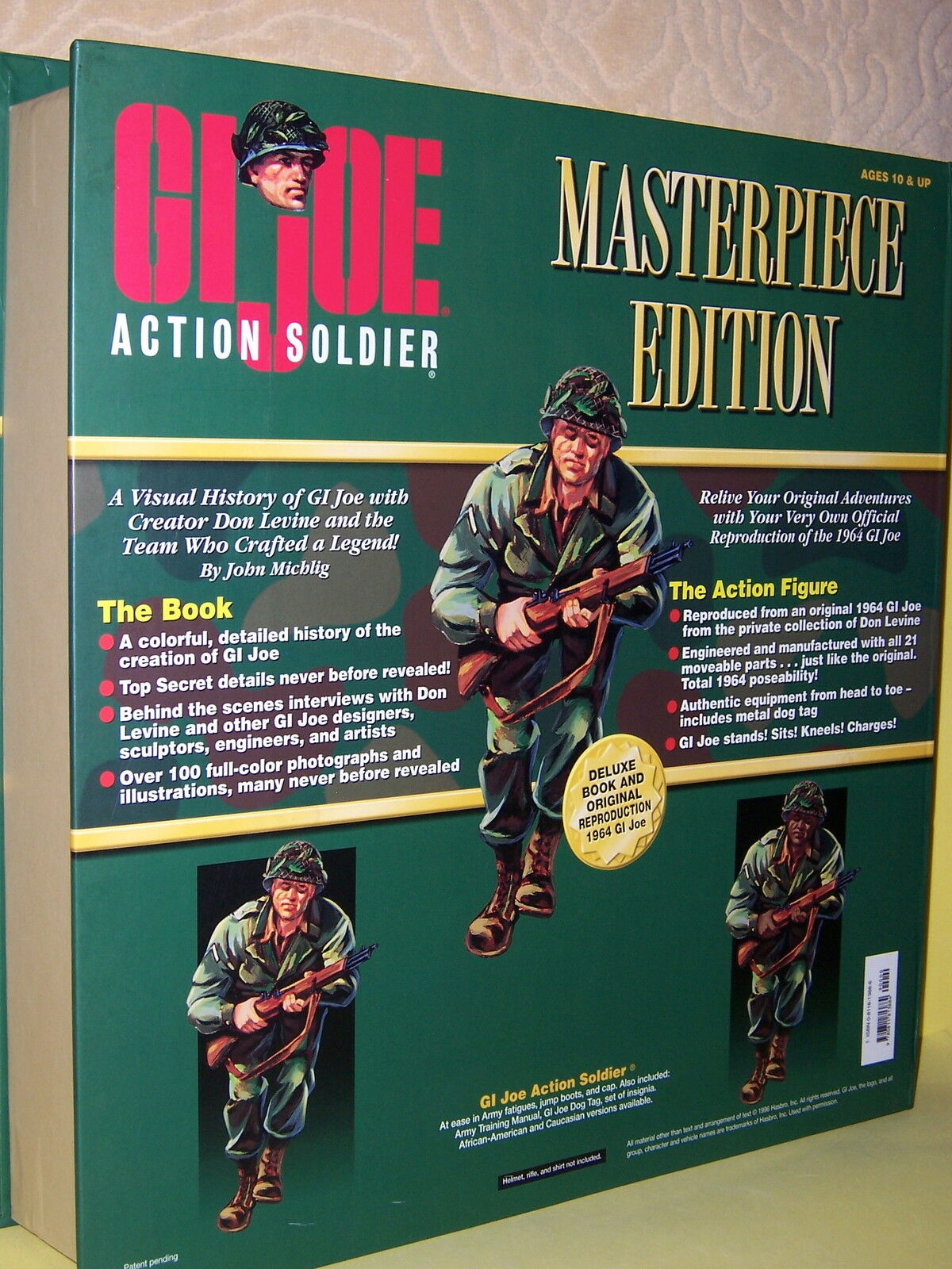 GI JOE ACTION SOLDIER, MASTERPIECE EDITION, NIB 1996 1996 1996 d8f14f
