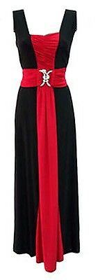 Womens Ladies Plus Size Sleeveless Snake Buckle Long Party Maxi Dress 16 to 26