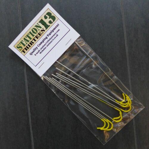 130 mm x 2 mm Ultralight Titane piquets de tente 2 g - Brand New!!! pack de 10