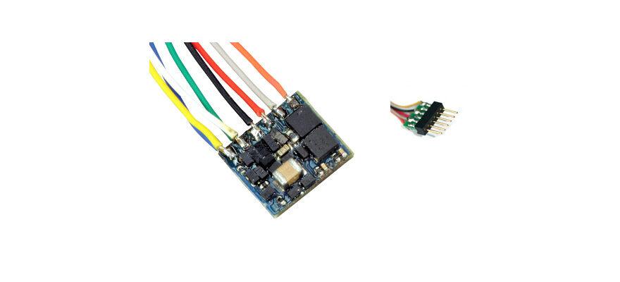 ESU 53664 2 PZ. LokPilot Nano standard DCC decoder 6-pol spina NEM 651 NUOVO OVP