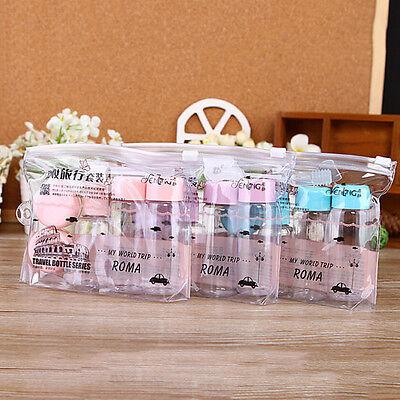 7PCs/set Essensial Travel Mini Plastic Transparent Empty MakeUp Container Bottle
