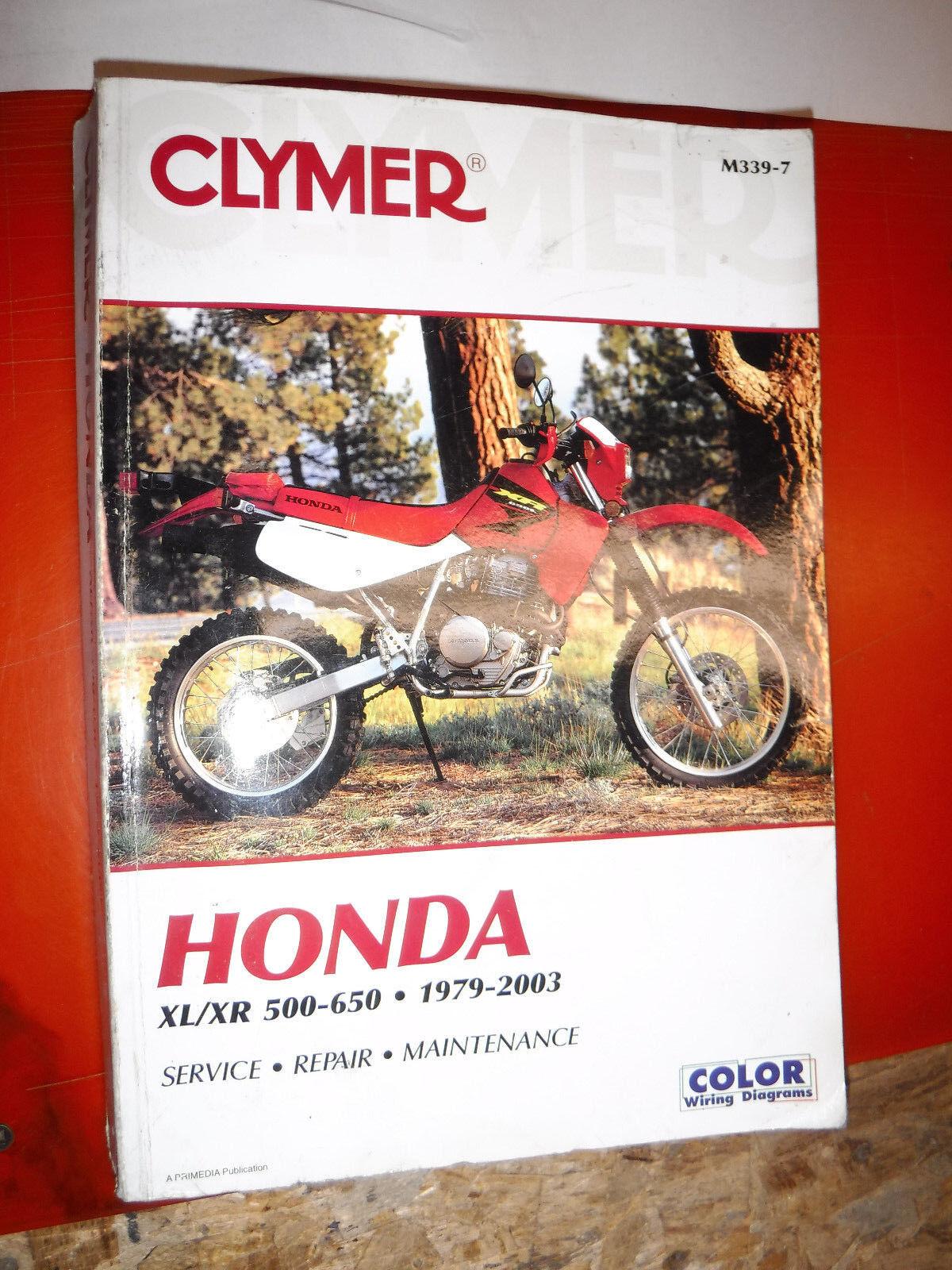 Clymer Honda 1979 2003 Xl Xr 500 650 Service Repair Maintenance Triumph Wiring Diagram On Bsa Positive Ground Manual Ebay