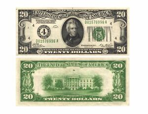 1928-20-00-U-S-Federal-Reserve-Note-CLEVELAND-4-Fr-2050-D-D01576996A-AU