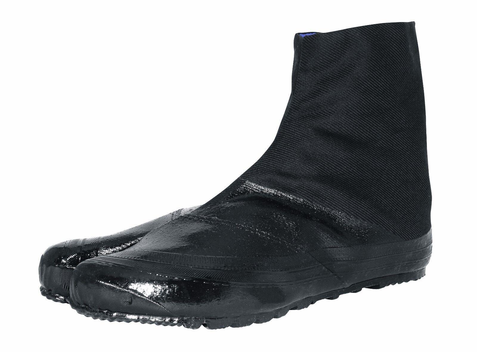 All Black Marugo Jitsuyo Ninja Tabi Boots Rubber Sole