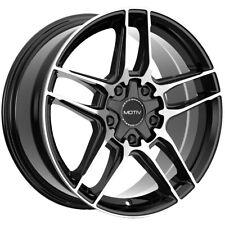 4 Motiv 434mb 18x75 5x1005x110 40mm Blackmachined Wheels Rims 18 Inch Fits Camry
