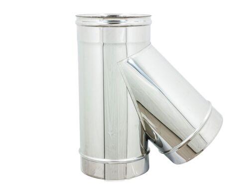 TUBI PER CANNA FUMARIA IN ACCIAIO INOX Ø130 AISI 304 6 DECIMI