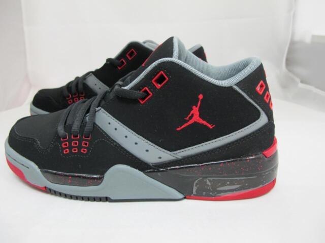 Air Jordan Flight 23 Size 6 Youth 6y Black Red Boys Basketball Shoe ... cdfff27fd