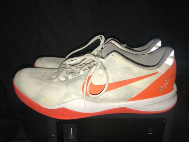 5623c6fca52f Nike Kobe 8 System TB PE Size 16.5 White Orange Ghost Gray Camo for ...