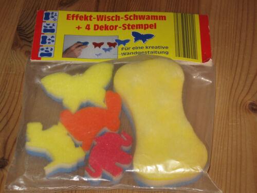 4 DEKOR-STEMPEL EFFEKT-WISCH-SCHWAMM Neu /& originalverpackt !
