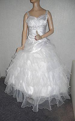 Neu Brautkleid Gr + Tasche 38 36 Handschuhe Ein Traum /fest/standesamt/ball Die Nieren NäHren Und Rheuma Lindern