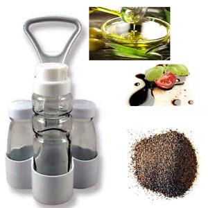 Set-Oliera-Olio-Aceto-Pepe-Sale-Casa-Condimento-Vetro-Plastica-Tavola-Cucina-144