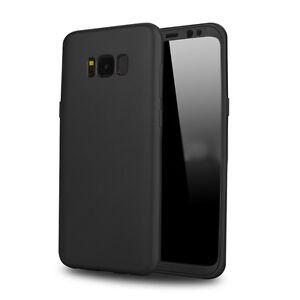 Coque-etui-housse-Silicone-Noir-mate-Samsung-Galaxy-S8-Protection-souple-TPU