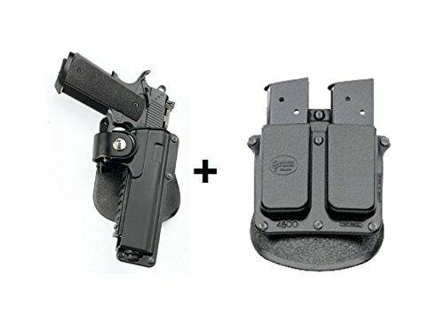 Funda Táctica Fobus + revista Doble Bolsa Para Colt 1911 estilo 5  CON RAIL