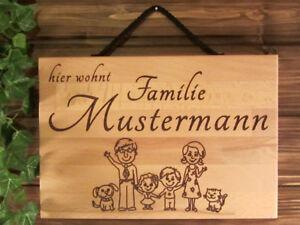 Familie-Ihr-Name-Schild-mit-persoenlicher-Gravur-als-Geschenk-Wunschgravur