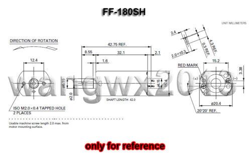 1pc For MABUCHI FF-180SH DC3V 17500RPM Precious Metal Brush Motor for Shaver Toy