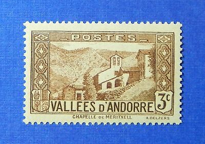 1932 Andorra French 3c Scott# 25 Michel # 26 Unused Nh Cs26202 For Fast Shipping Andorra Stamps