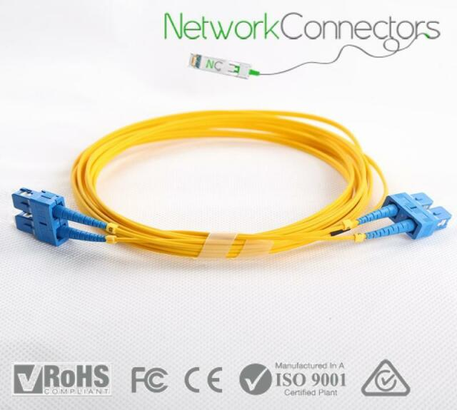 NBN Optic Fibre SCA Patch Cable 15M Quick Connect. Single Mode