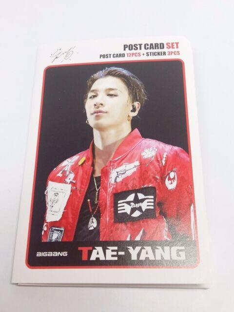Tae Yang TaeYang BIGBANG Postcard Set + Sticker YG Family KPOP Post Card K-POP