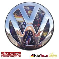 Volkswagen VW T5 /& T6 Transporter Van B/&W Stickerbomb REAR Badge Inserts.