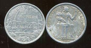 Grosses Soldes Polynesie Francaise 2 Francs 1986