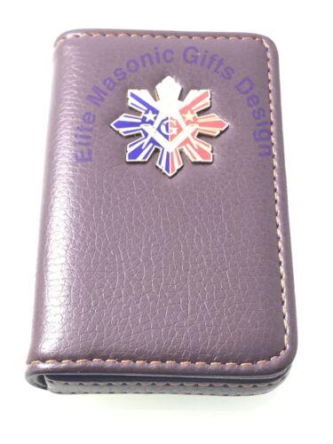 Philippines. Business Credit Card Holder Masonic Master Mason  Freemason Dues