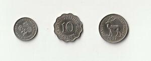 Mauritius-Lot-3-Muenzen-1971-1973