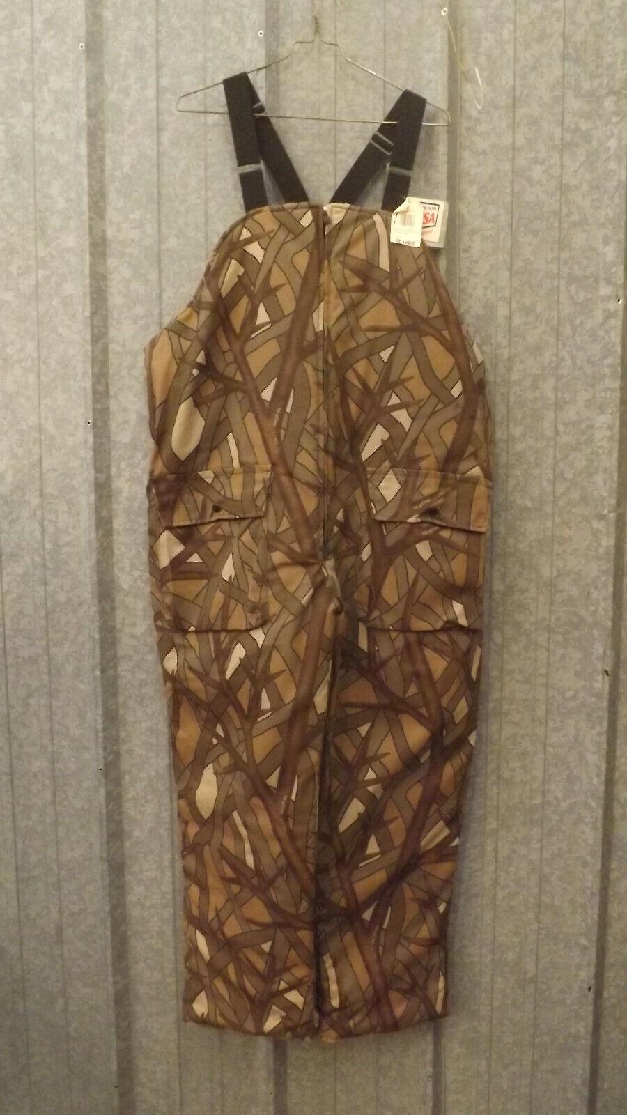 Vtg NEW  Insulated Skyline  Marsh White Snow Camo Bibs sz XXL USA Johnson Garment  online sale