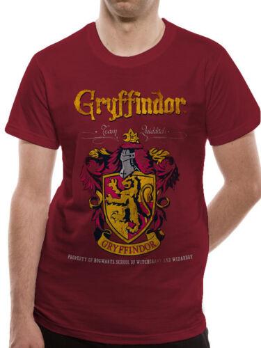 Mens T-Shirt Top Harry Potter Gryffindor Quidditch Official Licensed S