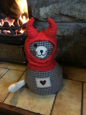 Hand Knitted Red Devil Balaclava For Small dogs, Ideal ...