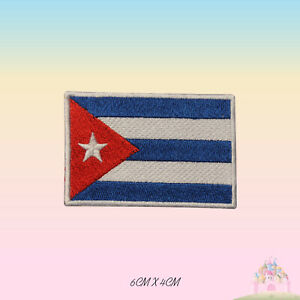 Cuba National Flag Embroidered Iron On Patch Sew On Badge