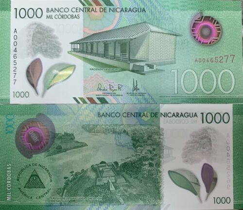 Nicaragua 1000 1 000 Cordobas 2019 Polymer P New Unc North Central America Paper Money World