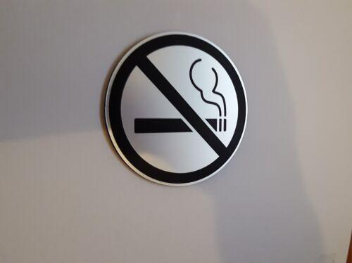 "NO SMOKING Symbol/_3/""x 3/"" Round Sign/_Indoor//Outdoor/_Home Business Car"