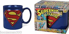 Superman Mug Embossed Official DC Comics - Dad , Brother , Boxed Christmas Gift