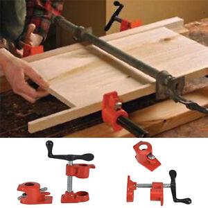 """2x Heavy Duty Quick Release 1/2"""" bois collage Collier de serrage pour le travail du bois en fonte"""
