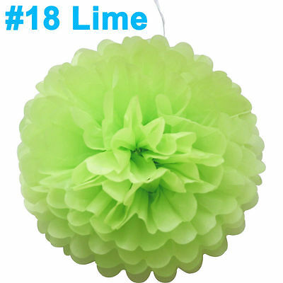 """8"""" Tissue Paper Pompoms For Wedding Party Decorations"""