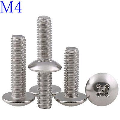 M4 316 Stainless Steel Phillips Pan Cross Drive Truss Head