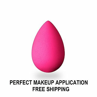 BLISS PRO BEAUTY Flawless MAKEUP Sponge BLENDER Foundation PINK PUFF egg GREAT!!