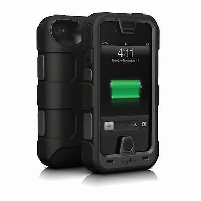 Mophie Juice Pack Pro Cover Hülle für iPhone 4 / 4S Schwarz 2500mAh Akku