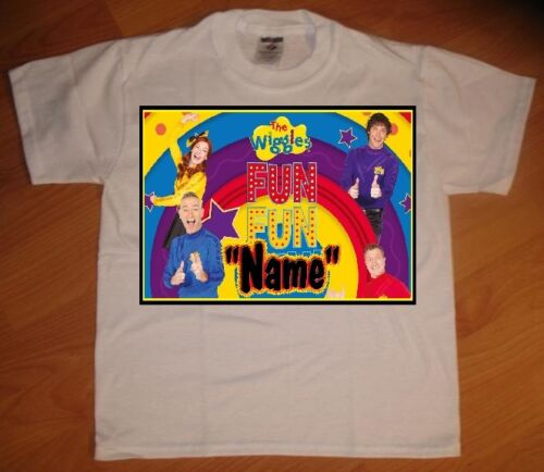 NEW The Wiggles Fun Personalized Birthday Party Favor Gift T-Shirt