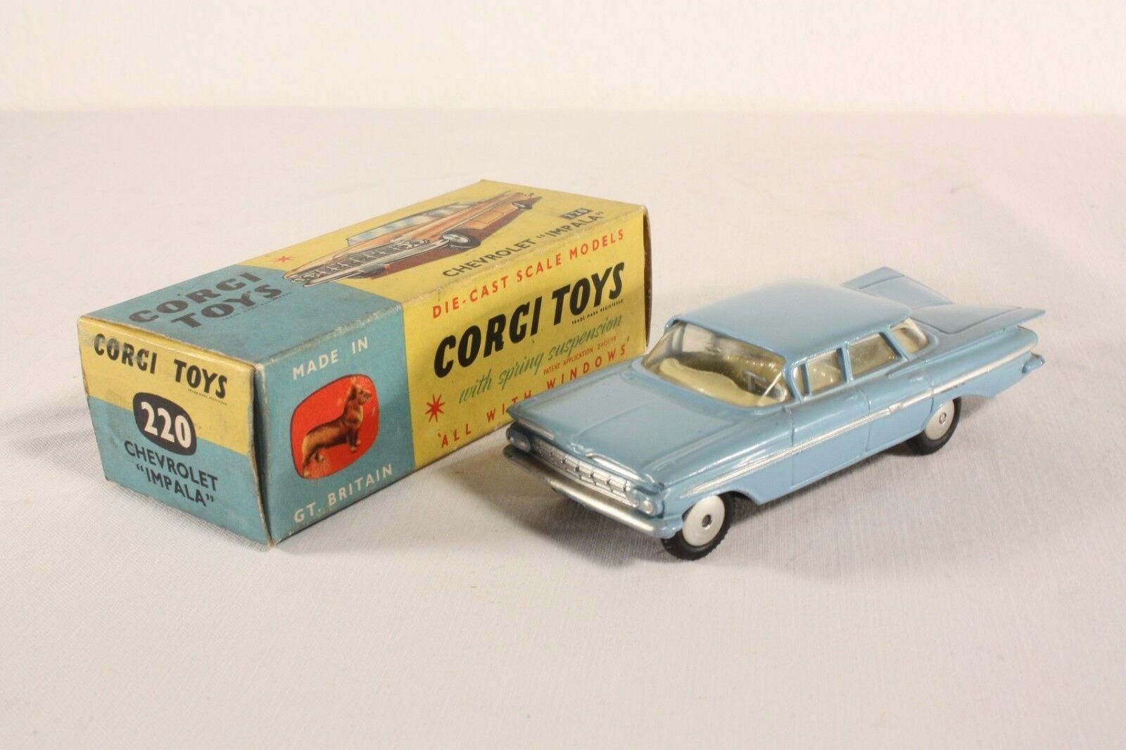 CORGI TOYS 220, Chevrolet Impala, Mint in Box #ab1715