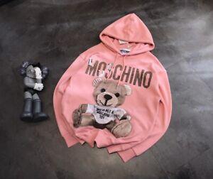 New-Moschino19-Pink-cardboard-bear-hoodie-sweatshirt