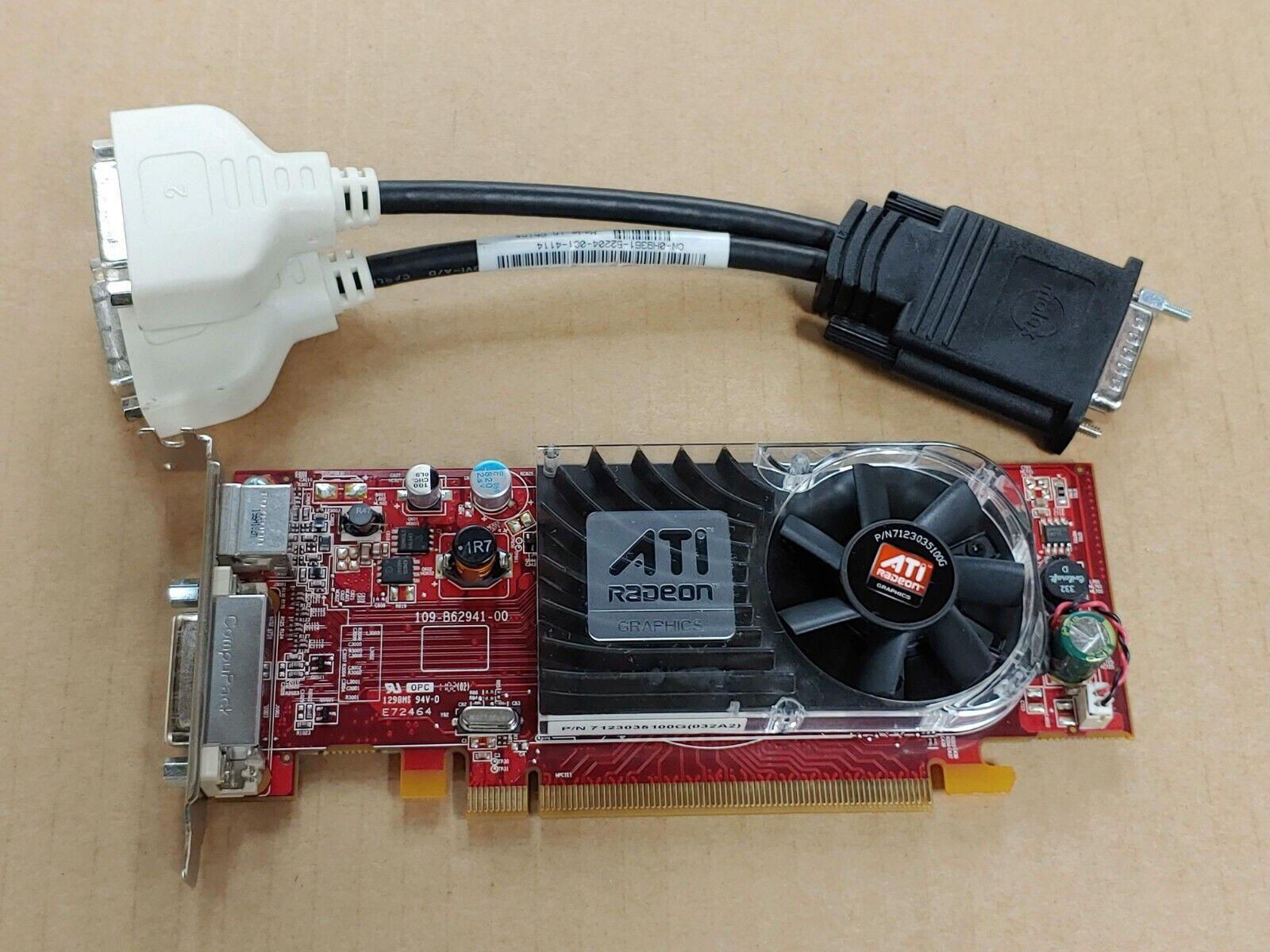 Dell 0Y103 ATI 3450 256MB PCI-E x16 LowProfile Video DMS59+DVI Splitter H9361