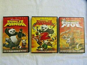Lot 3 Kung Fu Panda Dvd With Cases 1 2 Furious Five Ebay
