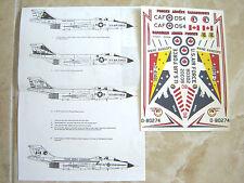 "RF/F-101B/C VOODOO ""5 USAF"" ALMARK DECALS 1/72"