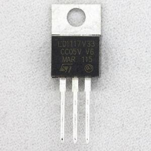 20 pcs LD1117 LD1117V33 3.3V 800mA Linear Voltage Regulator TO-220 NEW L8