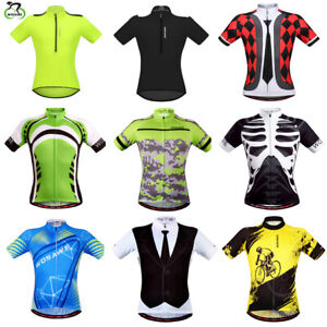 Summer-Men-039-s-Short-Sleeve-Cycling-jersey-Quick-dry-Breathable-MTB-T-Shirt-Tops