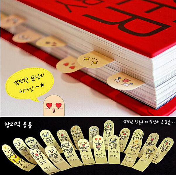200 Pages Lovely Fingers Pads Sticker Post-It Bookmark Memo Sticky Notes Flags