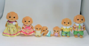 Sylvanian-Families-TOY-POODLE-FAMILY-SET-WITH-BABY-TRIPLES-Calico-Critters-Japan