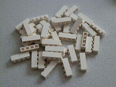 Lego 3010 # 40 x Basic Steine 1x4 hoch in weiss weiß