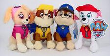 "4 Pcs 8"" Paw Patrol Plush Pup Doll Pal Character Set Marshall Chase Rubble Skye"